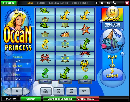Let online casino game, Ocean Princess float your boat