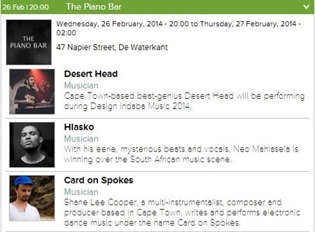 [Design Indaba 2014] 2014 Design Indaba Music festival starts this Wednesday