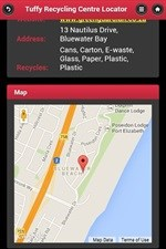 Locator app to assist recycling