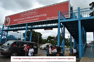 Alliance Media donates footbridge