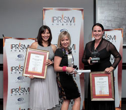 Winners of the PRISM Awards' first-ever Campaign of the Year Award: Atmosphere Communications for the Launch of the Burger King in South Africa campaign on behalf their client Burger King South Africa. From left to right: Marise Lerm, Nicola Nel and Tiana Lambert.