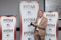 FleishmanHillard SA won the Award for top Large Public Relations Consultancy. Pictured here is Kevin Welman, Managing Director of FleishmanHillard SA.