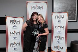 Atmosphere Communications won the Best Mid-Sized Public Relations Consultancy Award. From left to right: Marise Lerm and Nicola Nel.