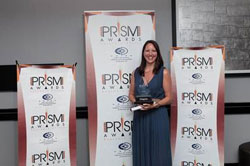 Tracy Jones from Positive Dialogue Communications, winners of the category: Best Small Public Relations Consultancy.