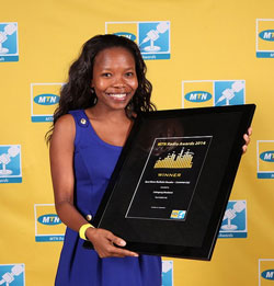 MTN Radio Awards News Bulletin Reader Lebogang Moeketsi.