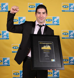 MTN Radio Awards Sports Reporter Mark Lewis.