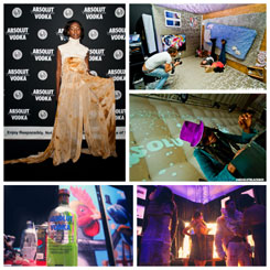 34 transforms art into party for Absolut Vodka