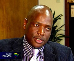 Motsoeneng in a happier mood. (Image: SABC)