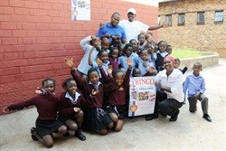 Misebeni Primary with the Trinco Tea team introducing the campaign to the school.