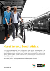 Brand South Africa launches 20 Years of Freedom campaign