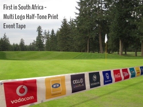 A first in South Africa: multi-logo half-tone print event tape - Right Stuff