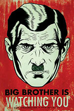 Big Brother is watching you. (Image: Wikimedia Commons)