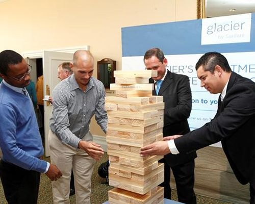 Jenga game for product launch