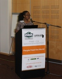 Masego Moobi from the South African National Agricultural Marketing Council