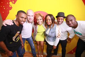 AT Nkosi, Alain Tardin, Zaba, Carol Ralefeta, Bongani Mtolo and Sky Tshabalala