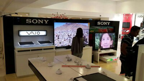 Sony new CI shopfit, store displays and exhibition programme