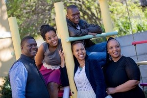 The Ngewana family, from left to right, is father, Zwelethu, Unam, the niece, Thulisa, the daughter, Lutholuthle, the son, and Bulelwa, their mother.