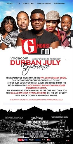 Celebrating the Vodacom Durban July weekend with the #GNation - Gagasi FM