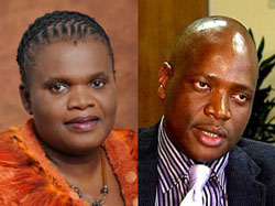 The DA is taking Communications Minister Faith Muthambi (left) (Image GCIS) to court over her decision to appoint Hlaudi Motsoeneng (Image: SABC) as chief operations officer of the SABC.