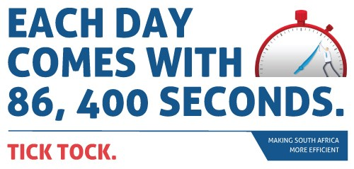 Each day comes with 86,400 seconds. Tick tock.
