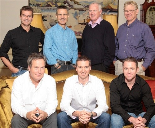 Left to right front: Charles Talbot, Daryl van Arkel, Neil Clarence<br>Left to right back: Anthony Stonefield, Derek Prout-Jones, Mike Pfaff, Andre Steenkamp