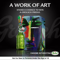Want to win a cool fridge in the Grolsch Art Campaign?