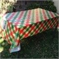 Digitally printed plastic tablecloths