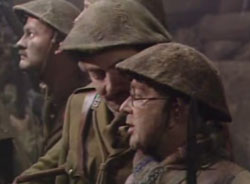 Baldrick ... doing what he does best... Doing his bit help the Allies win WW1. (Image extracted from YouTube clip)