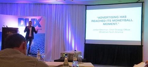 Ben Wagner of NATIVE VML, mid-presentation at the 2014 DMX Conference