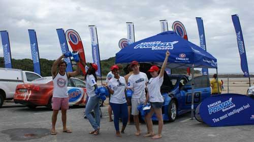 Summer fun during beach roadshow with Algoa FM and Engen