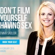 Don't Film Yourself Having Sex: Social Media Lawyer Emma Sadleir speaks at Heavy Chef Feb. Book now!