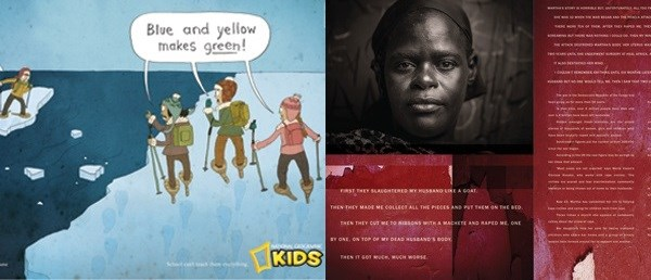 Examples of the Bronze Lion-winning work, from FoxP2 and Y&R South Africa Cape Town/Creative Y&R Nairobi, respectively