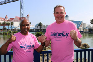 Eastern Cape leaders fighting cancer. From left is: Eastern Cape Premier Phumulo Masualle and Dave Tiltmann (Managing Director of Algoa FM)