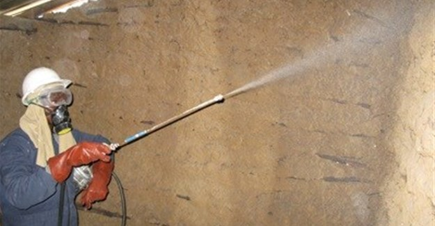 Elissa Jensen/USAID via  - Indoor Residual Spraying (IRS) of insecticides in a dwelling in Mozambique.
