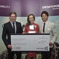 Greenovate Award winners (L-R) UCT team of Dijon Ross, Miekie van der Merwe and Rowan McKenzie