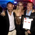 The Vizeum team celebrating their Annual AdFocus 'media agency of the year' win