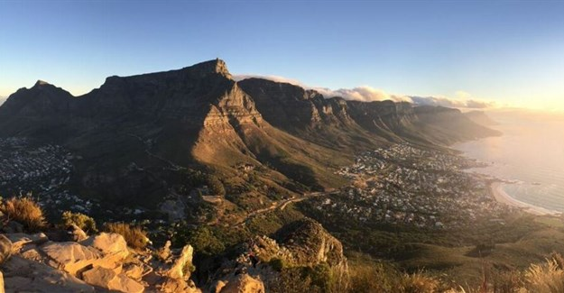 Table Mountain, Camps Bay by Hillary Fox
