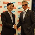 Yang Yuanqing (Lenovo) and Bill McDermott (SAP SE)