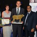 Nic Andrew - head of Nedgroup Investments - accepting the award