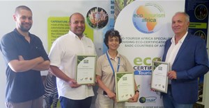 From left to right: CapeNature tourism manager Ramese Mathews, CapeNature executive director: marketing an eco-tourism Sheraaz Ismail, CapeNature chief executive officer Dr Razeena Omar, Comet Corporation managing director Bruce See (representing Eco-tourism Africa).