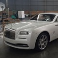The Rolls-Royce Wraith at Bidvest Panalpina Logistics' warehouse.