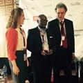 Yves Eonnet (right), receiving the Kalahari Award