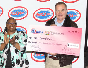 From left is the Eastern Cape MEC of Health Dr Pumza Dyantyi and Managing Director of Algoa FM, Dave Tiltmann.