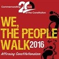 We, the People Walk - Commemorating 20 years of the constitution