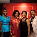 AIDS Healthcare Foundation (AHF) celebrate 15 years. L-R: Dr Penny Lutung, Kemi Gbadamosi), Dianna Hoorzuk abd Hilary Thulare