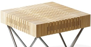 Dutch designer creates flexible wood for furniture range