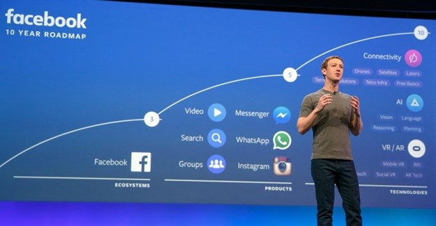 Mark Zuckerberg onstage at F8 2016. © http://newsroom.fb.com/
