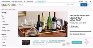 eBay uncorks online wine shop