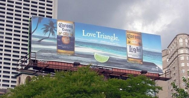 Corona billboard that won an award at the Obies this year.