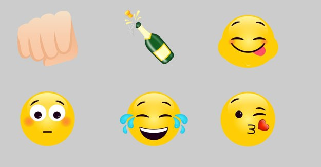 A selection of the specially designed emojis in TLC Entertainment's library.